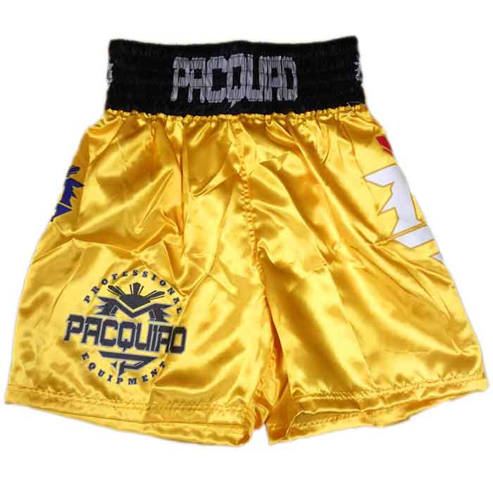 MANNY PACQUIAO FIGHTSHORTS/マニー・パッキャオ ファイトショーツ(イエロー)