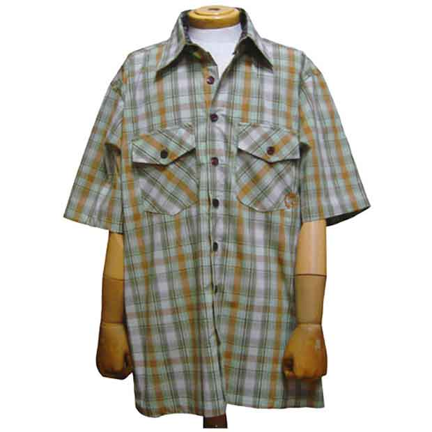 Farmer Button Up Green